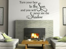 "Wall Quote ""Face The Sun"" Positive Happy Motivation Sticker Decal Decor Transfer"